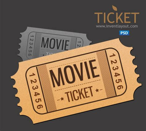Movie Ticket Psd By Atifarshad On Deviantart Event Ticket Template Photoshop