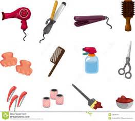 Raw Chair Frames Cartoon Hairdressing Kit Stock Images Image 23838034