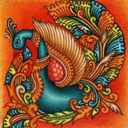 Faux Painting Colors - kerala mural swan painting handmade south india nature bird ethnic miniature art mughal