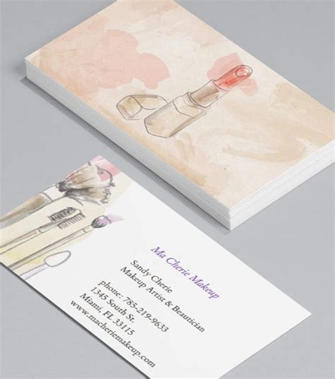 Makeup Visiting Card Design