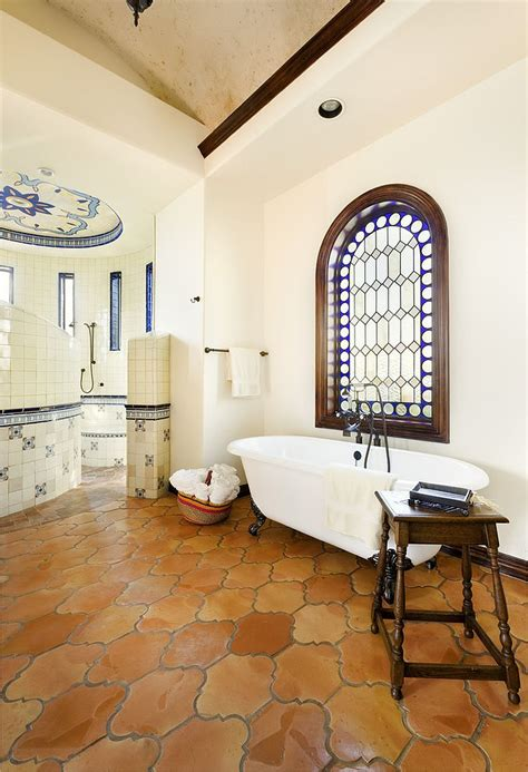 mediterranean bathroom design 20 interiors that embrace the warm rustic beauty of