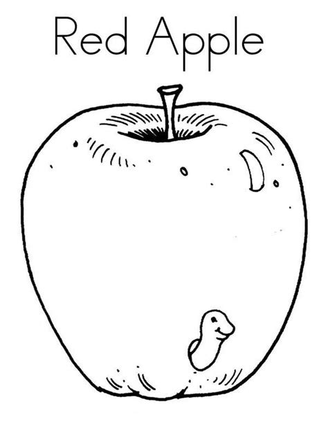 red apple coloring page 10 red apples coloring page coloring pages