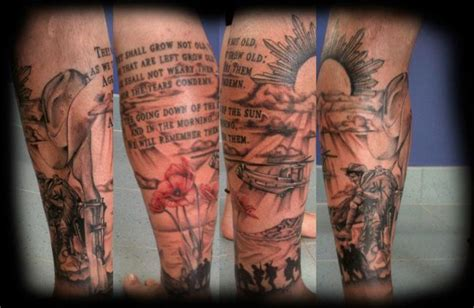 aussie tattoos designs lest we forget anzac sleeve design
