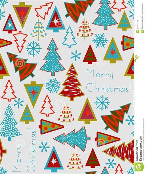 christmas tree pattern vector christmas trees seamless vector pattern stock vector