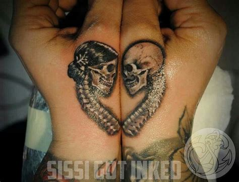 skull couple tattoos best 20 skeleton ideas on skull