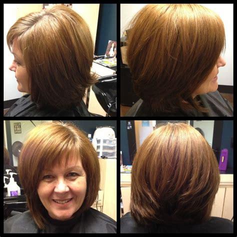 haircuts at whitney s prices angledbob haircut short wispy side bangs my work hair