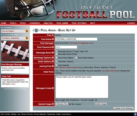 Office Football Pools by Office Football Pool Hosting Pro And College Football