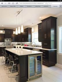 kitchen island with refrigerator wine fridge in kitchen island kitchen ideas
