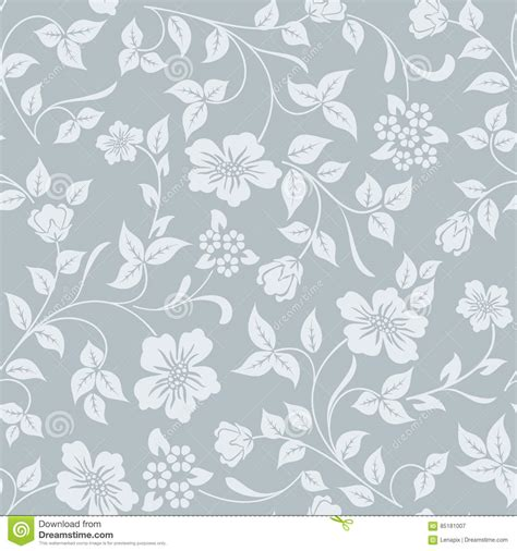 gift paper pattern vector free seamless grey and white flower background stock vector