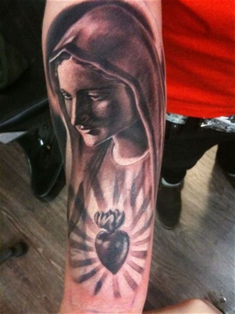 christian tattoo artists orlando virgin mary black and grey by mason tattoonow