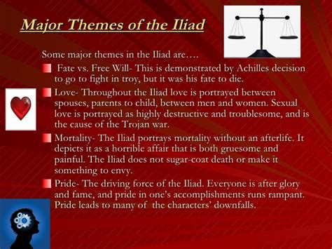 Themes Of The Story Iliad   the story of the iliad