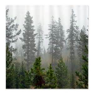 forest shower curtain on