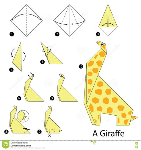 Easy Origami Giraffe - step by step how to make origami a giraffe