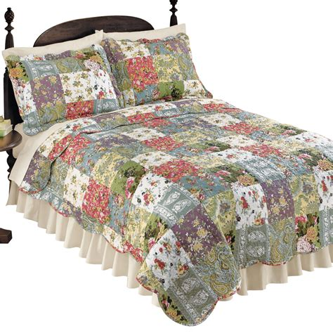 Light Weight Quilts by Blossom Floral Patchwork Reversible Lightweight Quilt By