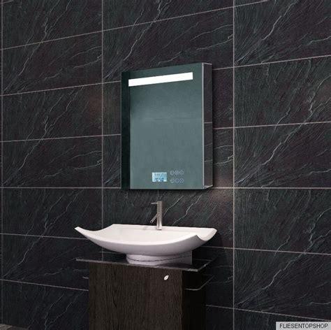 spiegelschrank 40x60 badezimmer spiegel bad spiegelschrank uhr radio mp3