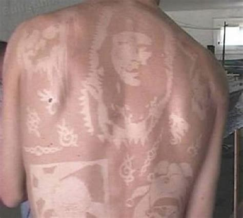 sunburn tattoo 10 awesome tattoos made using suntans page 2 of 5