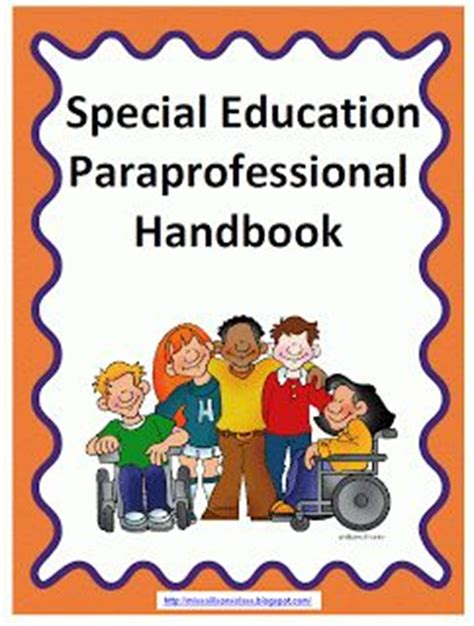 miss allison s class paraprofessional handbook freebie school