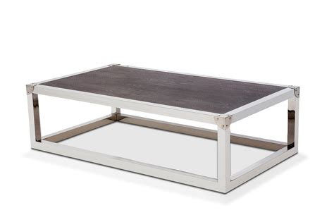 Steel Coffee Table Salvatore Stainless Steel Coffee Table With Wood Top In Espresso Finish