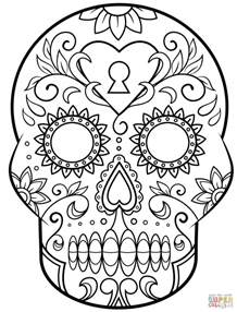 dia de los muertos skull coloring pages day of the dead sugar skull coloring page free printable