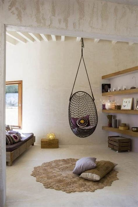 swinging chair for bedroom captivating grid rattan bedroom hanging chair design