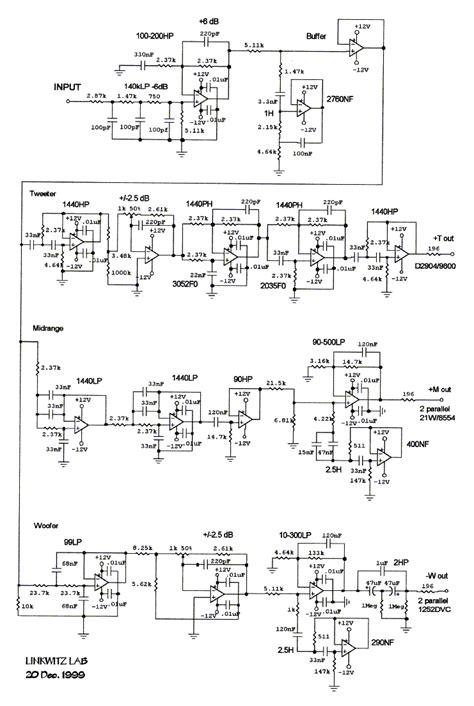 electronic audio crossover schematics get free image