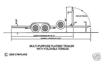 trailer plans flatbed tandem axle trailer trailer plans