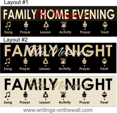 family home evening for ones a year of fhe lessons for the family books family home evening chart symbols 2 color vinyl only