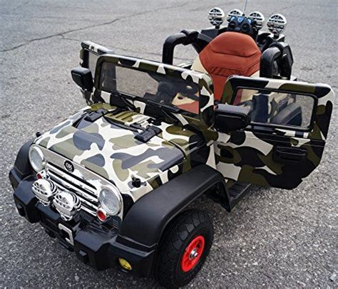 Wheels Motorized Jeep Camo Jeep Wrangler Battery Operated Ride On With