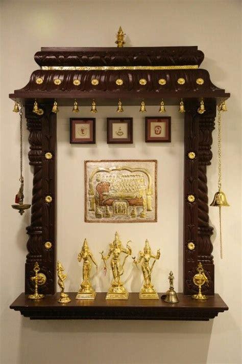 beautiful wall mounted brown pooja mandir waynirmancom  interior designing  interior