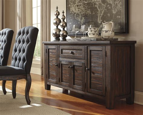 dining room furniture server signature design by trudell solid wood pine dining