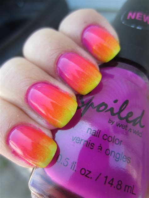 ombre design neon rainbow ombre nail polish design all about nails