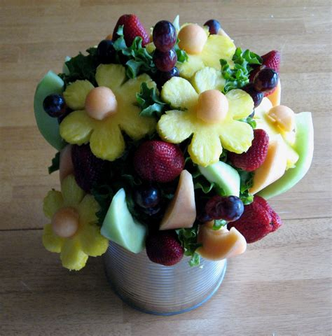 edible centerpieces the beautiful thrifty diy edible arrangement