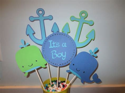 Whale Baby Shower Centerpieces by 5 Whale And Anchor Baby Shower Centerpiece