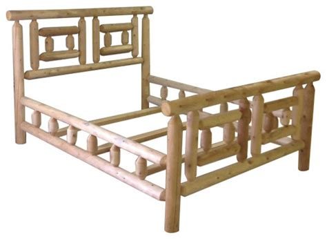 cedar bed frame cabin cedar bed frame king rustic panel beds by