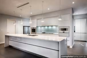 Small White Kitchen Island real kitchen an understated contemporary space completehome