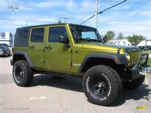 2007 rescue green metallic jeep wrangler unlimited x 4x4