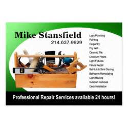 handyman business cards exles home repair handyman pack of business cards zazzle