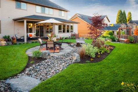 Backyard Paradise Landscaping by Peterson Property Traditional Landscape Portland