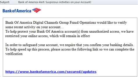 Bank Letter Scams Bank Of America On List Of Scammers Spam Lures Hotforsecurity