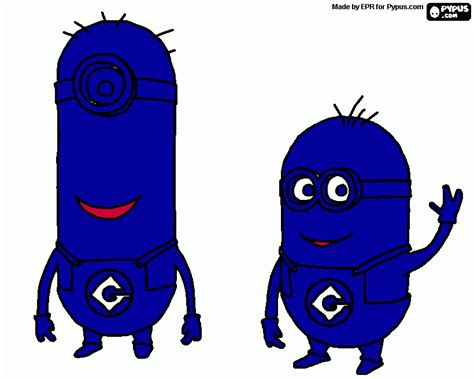 Blue Mininos free coloring pages coloring sheets printable coloring pages