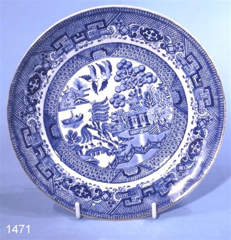 Grimswades Ye Olde Chinese Willow Pattern Vintage Tea Plate: Collectable China
