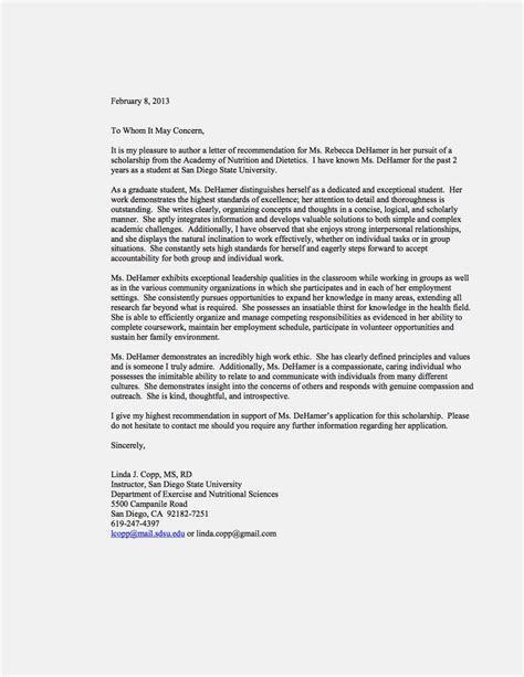 Letter Of Recommendation For College Scholarship From Pastor Letter Of Recommendation Template For Scholarshipmemo Templates Word Memo Templates Word