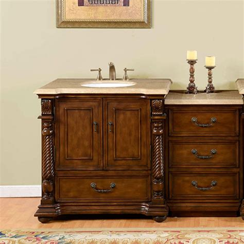 57 Bathroom Vanity 57 Inch Single Sink Bathroom Vanity With Bank Of Drawers Uvsr0275t57
