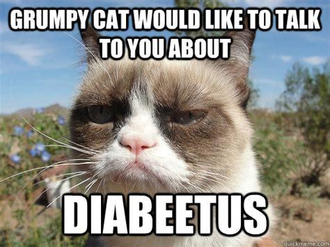 Diabetes Cat Meme - grumpy cat wilford brimley