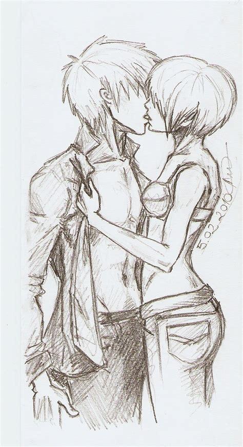 anime couples kissing sketches sketch kiss by yuki anna on deviantart