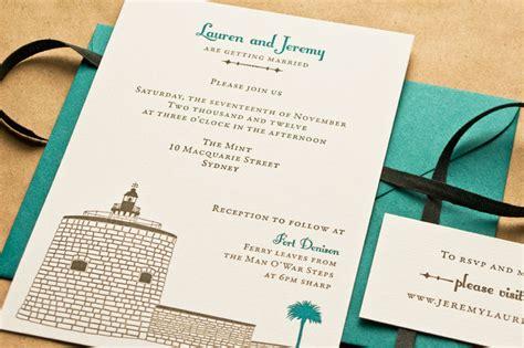 Wedding Invitation Australia by S Illustrated Historical Australian