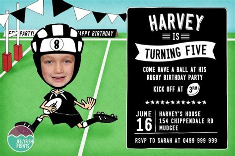 birthday themes nz rugby party invitation we made this invite in the nz all