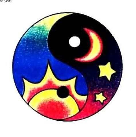 which color is yin colorful ying yang multi color ying yang model