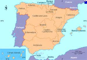 map of spain and regions spain maps