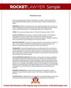 Warehouse Lease Agreement Template by Warehouse Lease Agreement Template Warehouse Lease With Sle